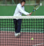 Tennis player in action Royalty Free Stock Photography