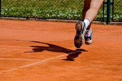 Tennis player in action Royalty Free Stock Photo