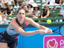 Tennis player Andrea Petkovic preparing for the Australian Open at the Kooyong Classic Exhibition tournament Stock Images