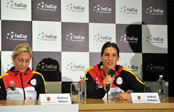 Tennis player Andrea Petkovic during a press conference Royalty Free Stock Photo