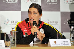 Tennis player Andrea Petkovic during a press conference Royalty Free Stock Photography