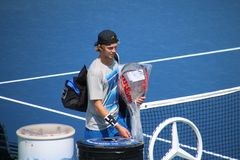 Andrey Rublev. Tennis player Andrey Rublev at the 2017 US Open tennis grand slam Stock Images