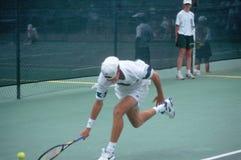 Tennis player at the Annual Ojai Amateur Tennis Tournament, Ojai, California Royalty Free Stock Photo