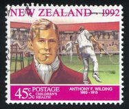 Tennis Player Anthony Wilding Royalty Free Stock Photo