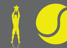 Tennis player background. Vector illustration of tennis player Stock Photos
