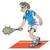 Tennis player vector illustration