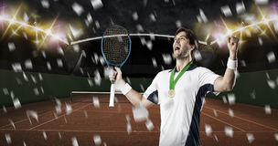 Tennis Player. Royalty Free Stock Photos