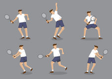 Tennis Player Character Vector Illustration Royalty Free Stock Image