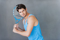 Tennis player. stock image