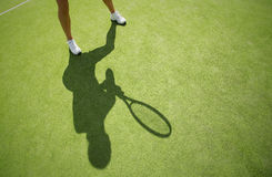 Tennis player on the court Royalty Free Stock Images