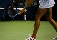 Tennis player on court Stock Image