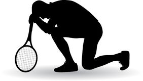 Tennis player disappointed Royalty Free Stock Photo