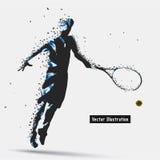 Tennis Player divergent composition Stock Photo