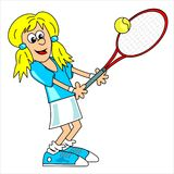 Tennis player - girl Royalty Free Stock Photos
