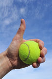 Tennis Player Giving Thumbs Up Sign Stock Photography