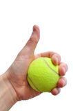 Tennis Player Giving Thumbs Up Sign Royalty Free Stock Images