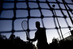 Tennis player. A tennis player having fun to play Stock Images