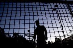 Tennis player. A tennis player having fun to play Stock Photos
