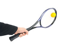 Tennis player hitting the ball Stock Image