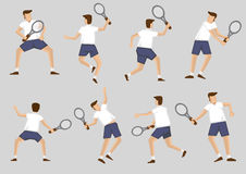 Tennis Player Holding Racquet Vector Cartoon Character Clip Art Stock Image