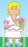 Tennis player illustration royalty free illustration