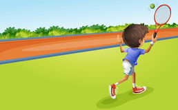A tennis player royalty free illustration