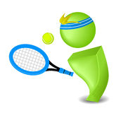 Tennis Player. Illustration of a Tennis Player Stock Images