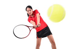 Tennis player isolated Royalty Free Stock Photo