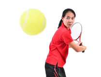 Tennis player isolated Stock Photo