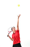 Tennis player isolated Royalty Free Stock Images