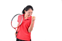 Tennis player isolated Stock Images