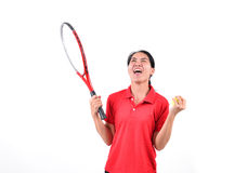 Tennis player isolated Royalty Free Stock Photos