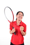 Tennis player isolated Stock Image