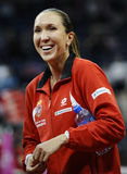 Tennis player Jelena Jankovic smiles after a tennis match Royalty Free Stock Images