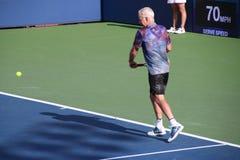 John McEnroe. Tennis player John McEnroe at the 2017 US Open tennis grand slam Royalty Free Stock Images