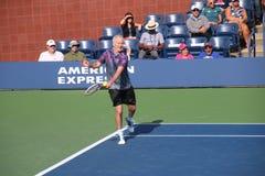 John McEnroe. Tennis player John McEnroe at the 2017 US Open tennis grand slam Stock Images