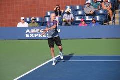 John McEnroe. Tennis player John McEnroe at the 2017 US Open tennis grand slam Royalty Free Stock Image