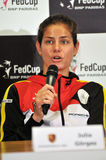 Tennis player Julia Gorges during a press conference Royalty Free Stock Photos