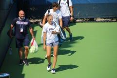 Karolína Plíšková. Tennis player Karolína Plíšková at the 2017 US Open tennis grand slam Stock Photography