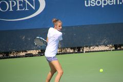 Karolína Plíšková. Tennis player Karolína Plíšková at the 2017 US Open tennis grand slam Stock Photo