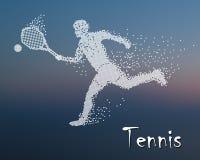 Tennis player kicks the ball Royalty Free Stock Photo