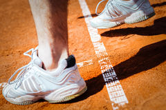 Tennis player leg Royalty Free Stock Photography