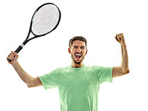 Tennis player man isolated Royalty Free Stock Image