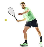 Tennis player man isolated Stock Photography