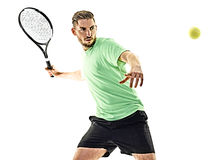 Tennis player man isolated Royalty Free Stock Photo