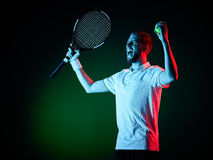 Tennis player man isolated Royalty Free Stock Photography