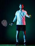 Tennis player man isolated Stock Photos