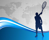 Tennis Player On Abstract Background Royalty Free Stock Photos