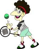 Tennis player Cartoon Stock Image