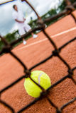 Tennis player playing a match Royalty Free Stock Photography